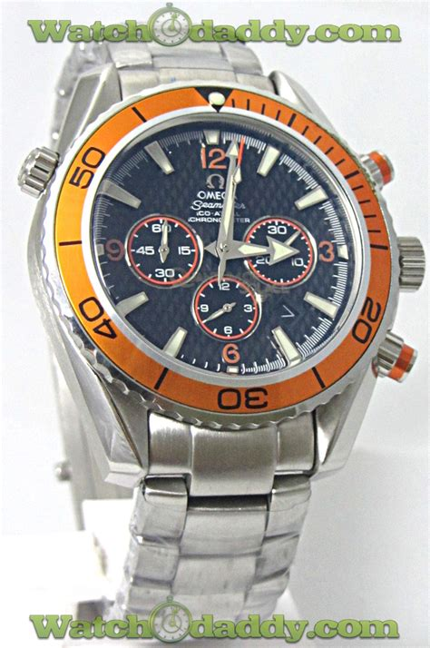 omega seamaster quantum of solace 007 bond chronograph orange bezel at best