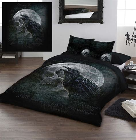 raven bedroom set ravens curse by alchemy gothic kingsize bed duvet set