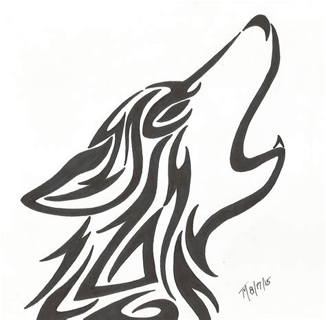 tribal wolf head by toxic moon dragon on deviantart