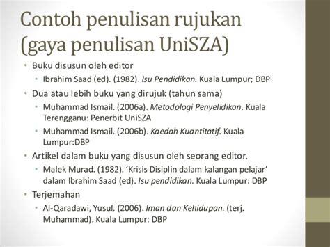 penulisan daftar pustaka gaya apa gaya penulisan apa uni sza