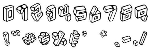 font kotak kotak fonte