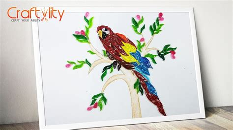 paper quilling birds tutorial paper quilling frame how to make paper quilling bird