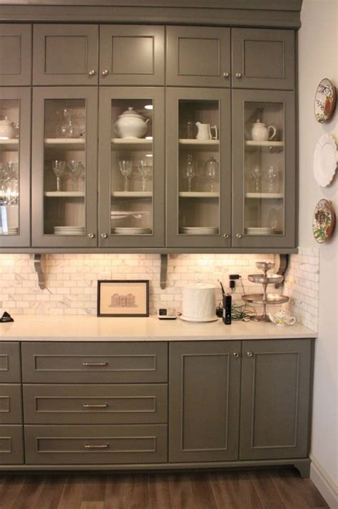 tops kitchen cabinet gray cabinets marble subway tile and white countertops