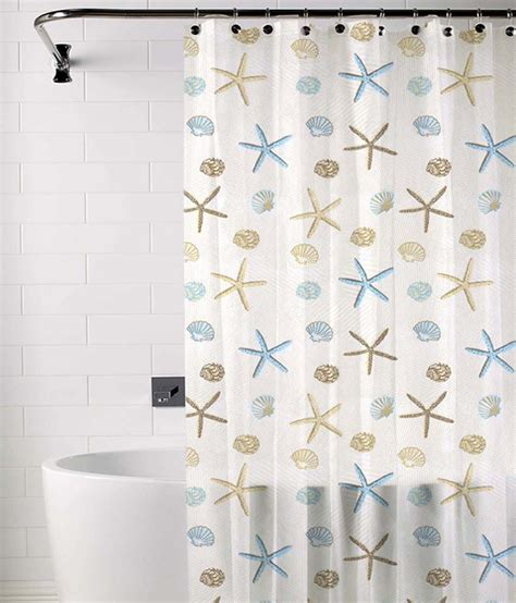 blue and beige shower curtain skipper blue and beige polyester shower curtain buy