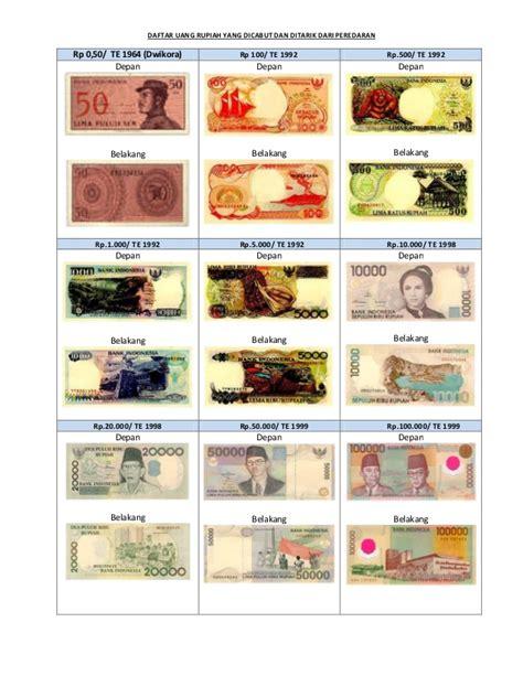 ditarik dari peredaran gambar uang dicabut dan ditarik dari peredaran