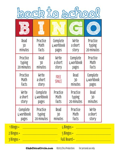 printable games for high school back to school bingo for kids free printable