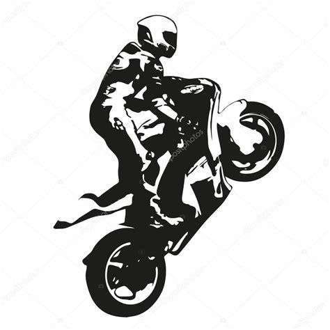 convertir imagenes jpg a svg moto carreras vector silueta dibujo wheelie archivo
