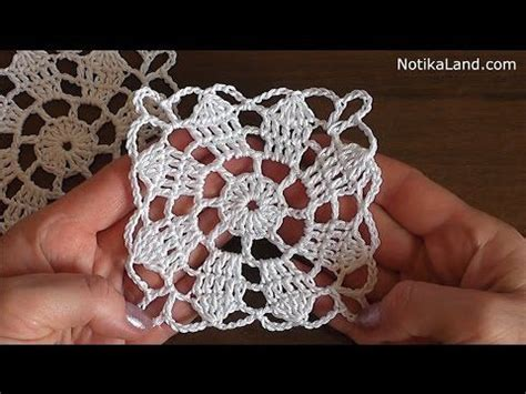 Crochet Motif Patterns For Tablecloth Part 5 How To Join crochet flower pattern for doily tablecloth blanket motif