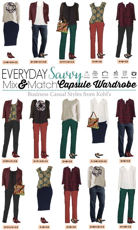 Business Casual Wardrobe by Kohls Business Casual Capsule Wardrobe For Fall