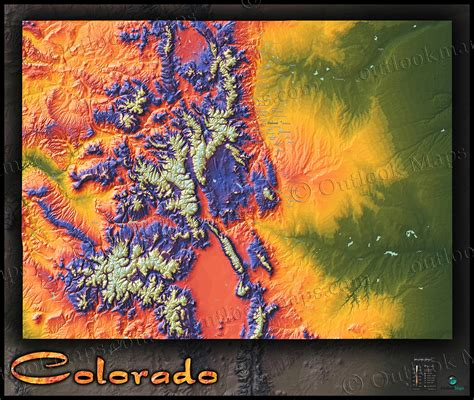 topographical map of colorado springs colorado map colorful 3d topography of rocky mountains