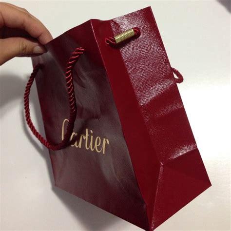 cartier cartier small paper shopping gift bag from lulu s closet on poshmark