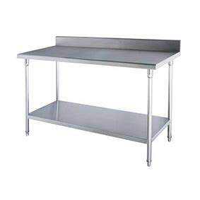 ss bench ss bench table with splashback 1200x700x850mm cater works