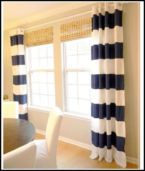 striped curtains canada navy and white striped curtains canada curtains home