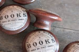 vintage knobs the books door pull in brown