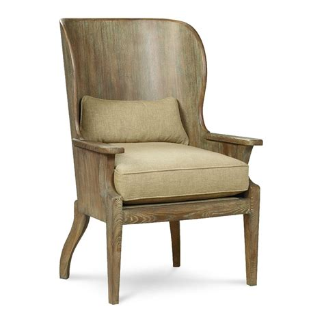 wood wing chair dining living room
