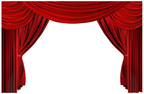 red curtain theatre stage curtains clipart cliparts co