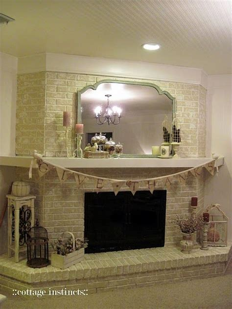 brick fireplace updating for the home
