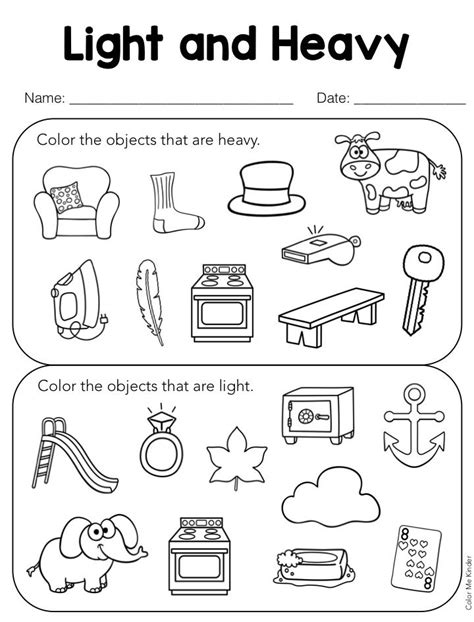 heavy and light lesson plan kindergarten lesson in a snap heavy light pocket chart sorting
