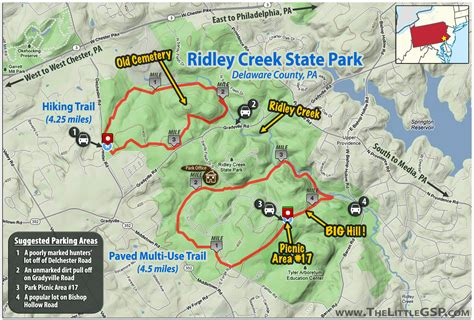 creek state park trail map ridley creek state park the gsp