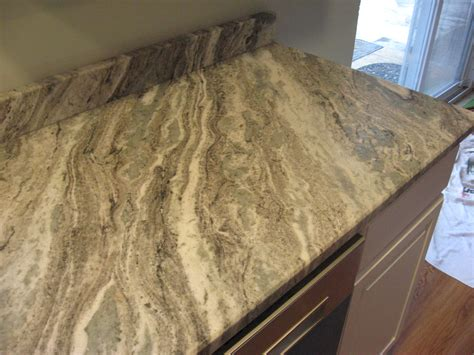 K And D Countertops by Brown Leathered Kitchen