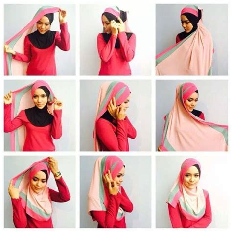 tutorial gambar pakai shawl 34 tutorial mudah pemakaian tudung shawl dan selendang