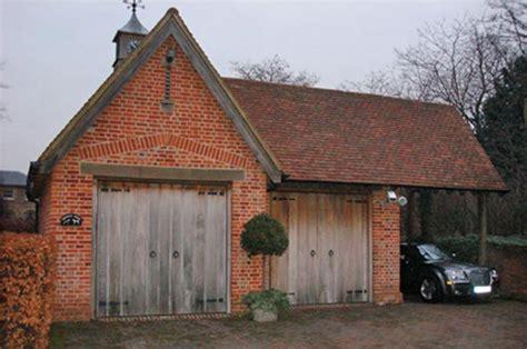 brick garage plans garages and oak frames