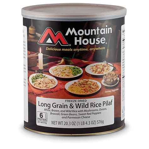 mountain house food mountain house emergency food freeze dried rice pilaf
