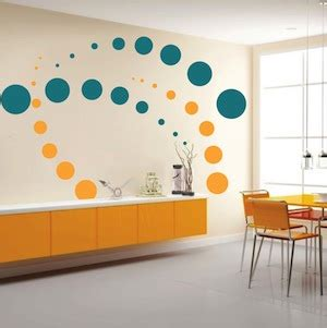 Trendy Wall Designs | contemporary evolution dots wall decals trendy wall designs