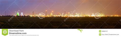 Landscape Lighting Zones Landscape With Lights Of Industrial Zone And