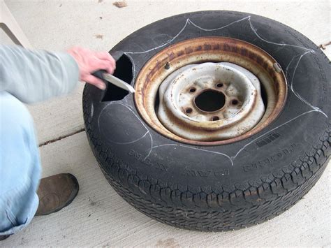 How To Make Tire Planters by How To Make A Tire Planter