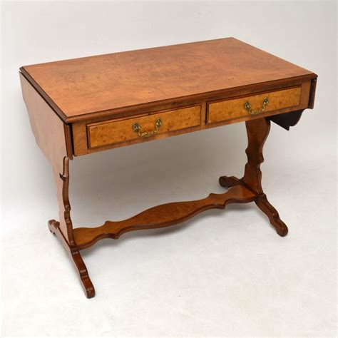 antique burr walnut sofa table marylebone antiques