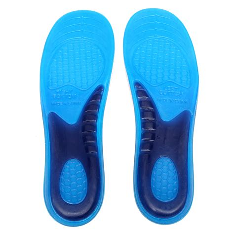 gel orthotic arch support massaging sport shoe