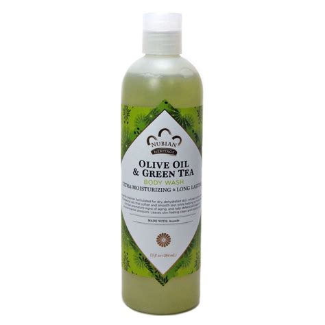 wash olive green tea by nubian heritage 13 ounces