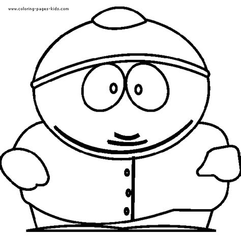 south park color page coloring pages for kids cartoon