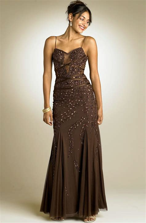 Found Ports Beaded Dress by Beaded Brown Gown My Style