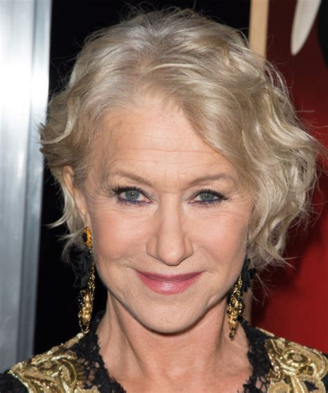 helen mirren cuts hair elegant hairstyles helen mirren short wavy casual hairstyle light blonde