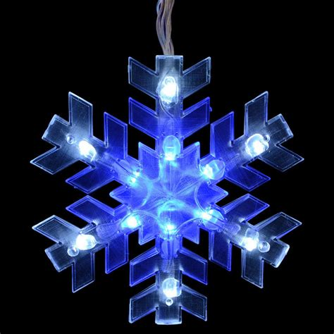 Outdoor Blue Led Lights Mains Voltage 5 Snowflake Curtain Festive Outdoor Blue White Led Lights