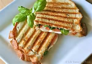 caprese panini tastes like food