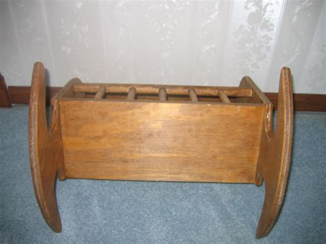 Handmade Rocking For Sale - custom made wooden baby doll play rocking cradle for