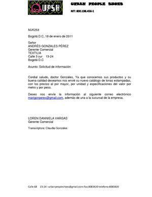 carta de solicitud de informacion calam 233 o carta de solicitud de informacion pdf