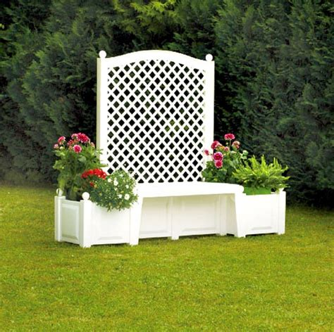 Garden Trellis Planter by Trellis With Planters Pergola Gazebos