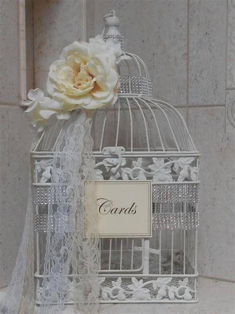romantic birdcage wedding cardholder birdcage card