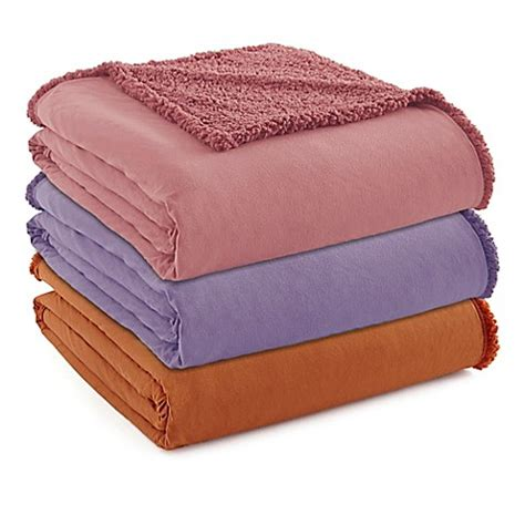 flannel sheets bed bath and beyond micro flannel 174 to sherpa blanket bed bath beyond