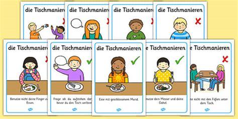 dining etiquette in scotland die tischmanieren german table manners rules display poster