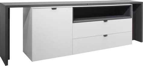 sideboard mit tischfunktion bahut avec fonction table micelli blanc mat anthracite