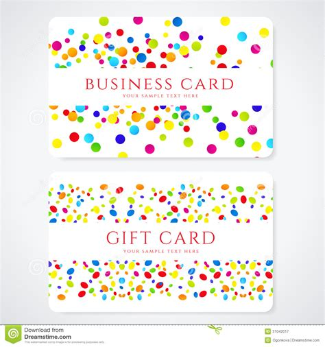 colorful business gift card template abstract stock