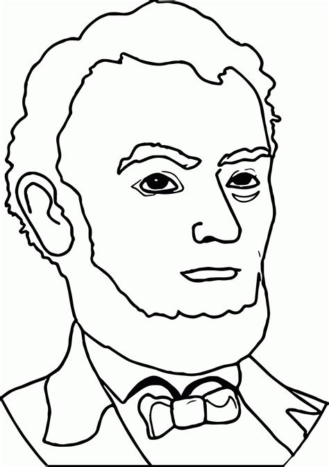 free coloring pages for abraham lincoln abraham lincoln coloring pages printable coloring home