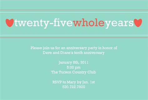 25th wedding anniversary invitation matter 25th anniversary invitation wording