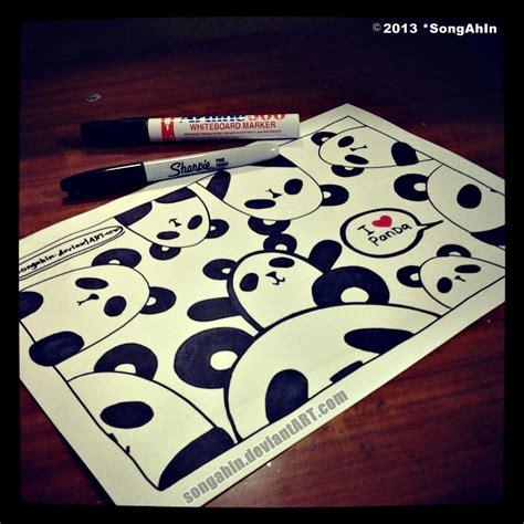 doodle panda panda doodle by songahin on deviantart