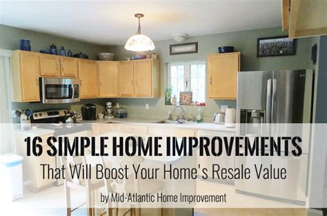 home improvements adding value